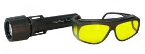 BLS2 - BlueStar Flashlight and Model VG2 barrier filter glasses - $189.50